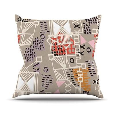 KESS InHouse Nico Outdoor Throw Pillow
