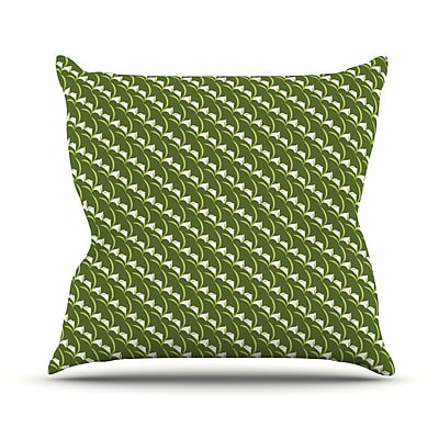 KESS InHouse Deco Calla Lily Outdoor Throw Pillow