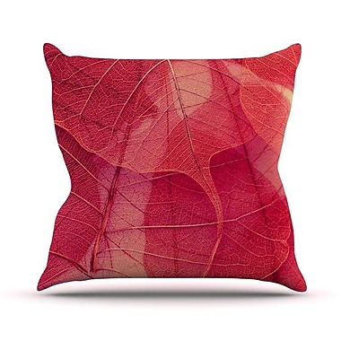 KESS InHouse Delicate Leaves Outdoor Throw Pillow