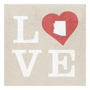 ReplayPhotos Arizona State Love Textual Art on Wrapped Canvas