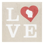 ReplayPhotos Wisconsin State Love Textual Art on Wrapped Canvas