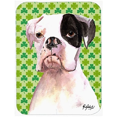 Caroline's Treasures Cooper St Patrick's Day Boxer Glass Cutting Board