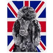 Caroline's Treasures Union Jack Standard Poodle w/ English British Flag Glass Cutting Board