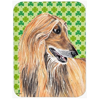 Caroline's Treasures Shamrock Lucky Irish Afghan Hound St. Patrick's Day Glass Cutting Board