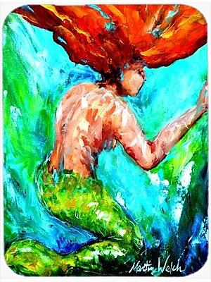 Caroline's Treasures Mermaids Heaven Glass Cutting Board