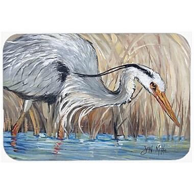 Caroline's Treasures Heron in the Reeds Glass Cutting Board