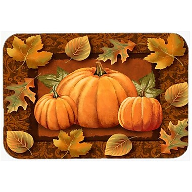 Caroline's Treasures Fall Leaves Pumpkins and Glass Cutting Board