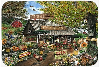 Caroline's Treasures The Produce Fruit Stand Glass Cutting Board