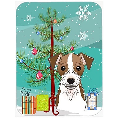 Caroline's Treasures Under the Christmas Tree and Jack Russell Terrier Glass Cutting Board