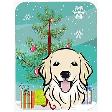 Caroline's Treasures Under the Christmas Tree and Golden Retriever Glass Cutting Board
