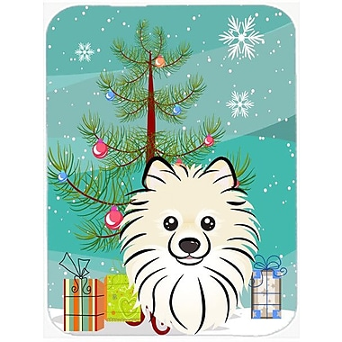 Caroline's Treasures Under the Christmas Tree and Pomeranian Glass Cutting Board