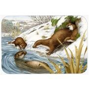Caroline's Treasures Playtime Otters Glass Cutting Board