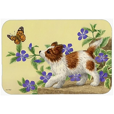 Caroline's Treasures Papillon Pup Glass Cutting Board