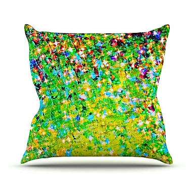 KESS InHouse Holiday Cheer Outdoor Throw Pillow