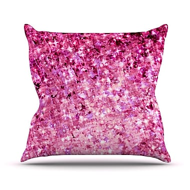 KESS InHouse Romance Me Outdoor Throw Pillow; Pink