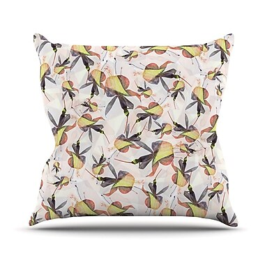 KESS InHouse Fuchsia on the Wind Outdoor Throw Pillow