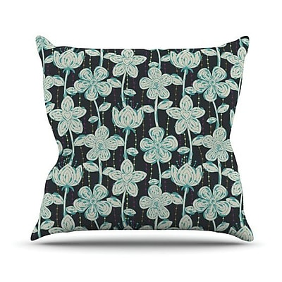 KESS InHouse My Spotted Flowers Outdoor Throw Pillow
