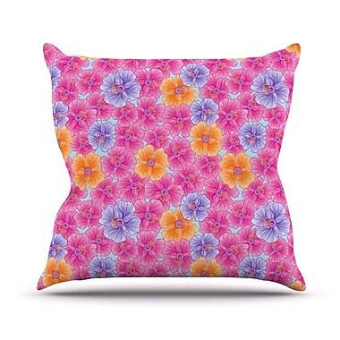 KESS InHouse My Garden Outdoor Throw Pillow