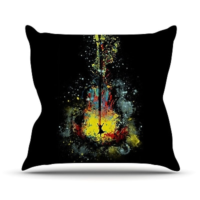 KESS InHouse Midnight Syphony Outdoor Throw Pillow