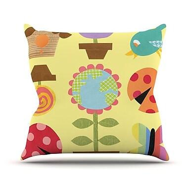 KESS InHouse Spring Repeat Outdoor Throw Pillow