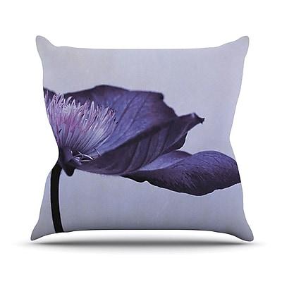 KESS InHouse Indigo Outdoor Throw Pillow