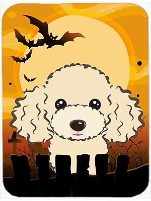 Caroline's Treasures Halloween Poodle Glass Cutting Board; Buff