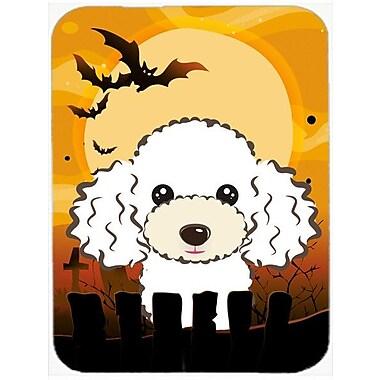 Caroline's Treasures Halloween Poodle Glass Cutting Board; White