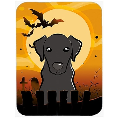 Caroline's Treasures Halloween Labrador Glass Cutting Board; Black