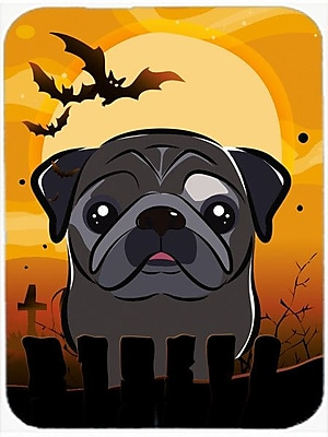 Caroline's Treasures Halloween Pug Glass Cutting Board; Black