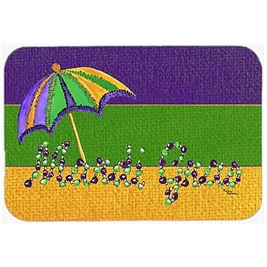 Caroline's Treasures Mardi Gras Beads w/ Umbrella Glass Cutting Board