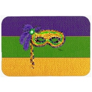 Caroline's Treasures Mardi Gras Mask Glass Cutting Board