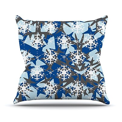 KESS InHouse Ice Topography Outdoor Throw Pillow