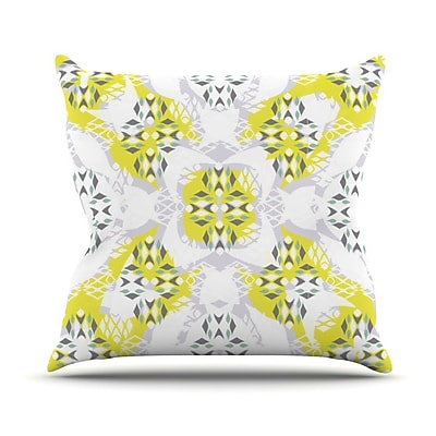 KESS InHouse Vernal Season Outdoor Throw Pillow