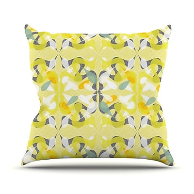 KESS InHouse Spring Flourish Outdoor Throw Pillow