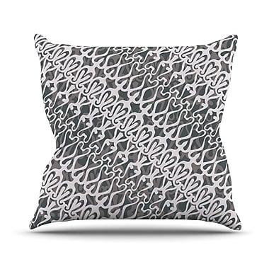 KESS InHouse Lace Outdoor Throw Pillow