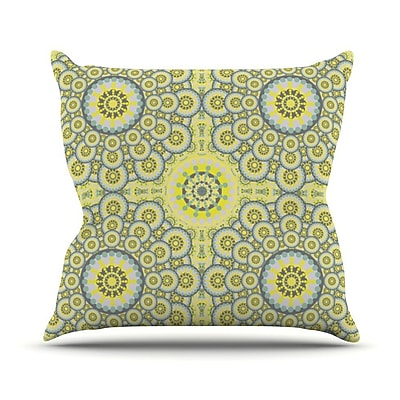 KESS InHouse Multifaceted Flowers Outdoor Throw Pillow