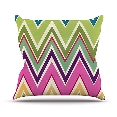 KESS InHouse Clash of Color Outdoor Throw Pillow