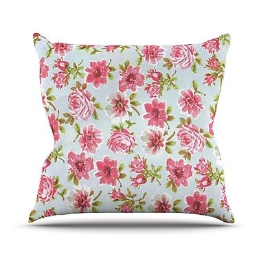 KESS InHouse Petals Forever Outdoor Throw Pillow