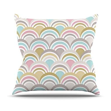 KESS InHouse Art Deco Delight Outdoor Throw Pillow