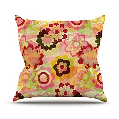 KESS InHouse Colorful Mix Outdoor Throw Pillow