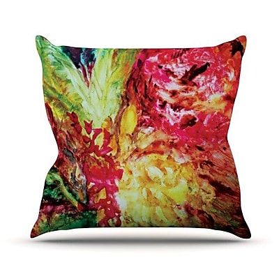 KESS InHouse Passion Flowers I Outdoor Throw Pillow
