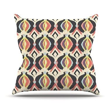 KESS InHouse Bohemian Ikat Outdoor Throw Pillow