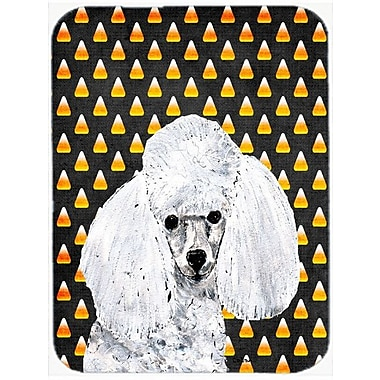 Caroline's Treasures Halloween Candy Corn Toy Poodle Glass Cutting Board