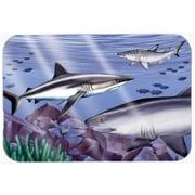Caroline's Treasures Sharks Glass Cutting Board