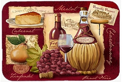 Caroline's Treasures Wine and Cheese Glass Cutting Board