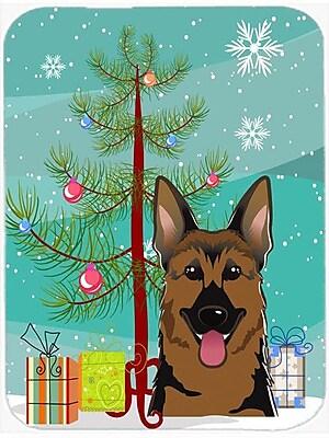 Caroline's Treasures Under the Christmas Tree and German Shepherd Glass Cutting Board