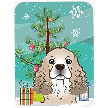 Caroline's Treasures Under the Christmas Tree and Cocker Spaniel Glass Cutting Board