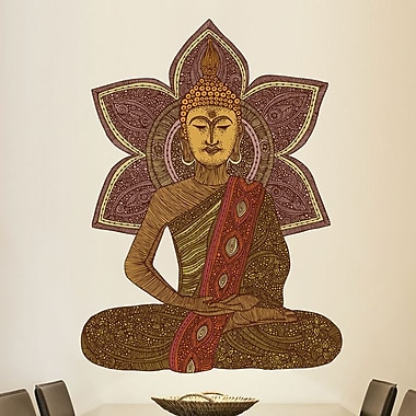 My Wonderful Walls Sitting Buddha by Valentina Harper Wall Decal; Small
