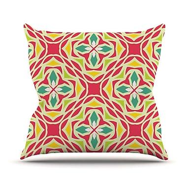 KESS InHouse Christmas Carnival Outdoor Throw Pillow
