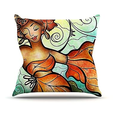 KESS InHouse Cubana Outdoor Throw Pillow
